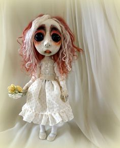 Loopy Southern Gothic Art Doll Victorian Easter by loopyboopy Ugly Dolls, Creepy Dolls, Easter Flowers, Spring Flowers, Artist Pencils, Gothic Dolls, Southern Gothic, Gothic Art, Lancaster