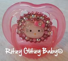 Hello Kitty Bling Pacifier by RitzyGlitzyBaby on Etsy, $20.00