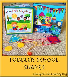 Toddler school: Shapes Fun + Freebie | Line upon Line Learning blog