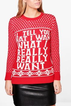 Mya I'll Tell You What I Want Christmas Jumper
