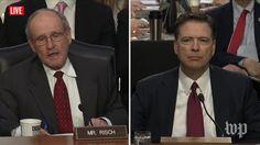 James Risch, James Comey |Live: Former FBI Director James Comey Testifies Before Congress (2017 broadcast) via Washington Post (YouTube channel)