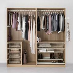 PAX Wardrobe, black-brown, Ilseng black-brown - 200x66x201 cm - soft closing device - IKEA