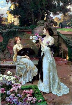 Painting by Wilhelm Menzler Classic Paintings, Old Paintings, Paintings I Love, Beautiful Paintings, Art And Illustration, Victorian Paintings, Victorian Art, Antique Art, Vintage Art
