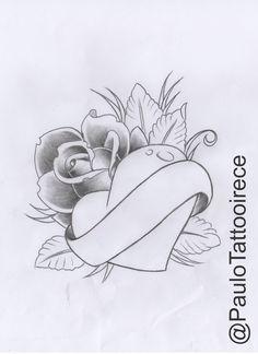 Elian (Pink with Heart) Design Scribble … – # Hearts – Graffiti World Badass Drawings, Pencil Art Drawings, Art Drawings Sketches, Tattoo Sketches, Easy Drawings, Tattoo Drawings, Body Art Tattoos, Mom Tattoos, Tattoo Art