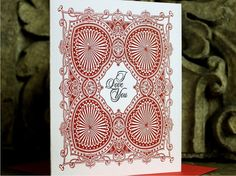 I Love You Letterpress Blank Card by inkadinkadoodle on Etsy, $4.50