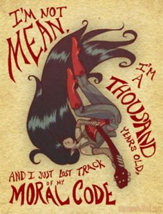 Marceline, oh marceline, why'd you have to be so mean!