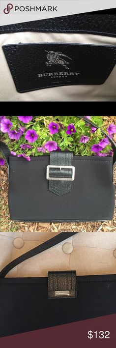 Burberry Black Baguette Burberry Evening Bag Great condition Few minor blemishes as shown Small Burberry metal logo on back 5.5x1.5x9.5 Price Firm, no trades Burberry Bags Shoulder Bags