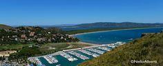 Il porto di #CalaGalera, il #TomboloDellaFeniglia, la #Laguna ed #Orbetello  Foto panoramica di Nello Alberti