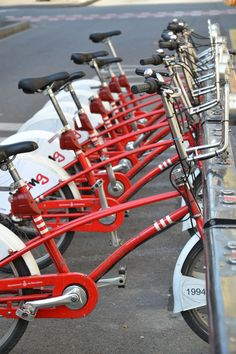 Bicing is a really neat bicycle sharing system in Barcelona! A much more eco-friendly way of transportation - and the workout is included!