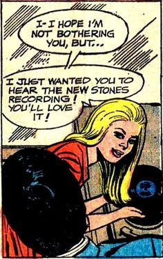 """""""I just want to hear The Stones"""" vinyl records in comics"""