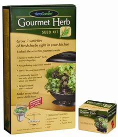 AeroGarden Gourmet Herb Seed Kit (6-7-Pod) (Discontinued by Manufacturer) AeroGrow http://smile.amazon.com/dp/B000FI61OQ/ref=cm_sw_r_pi_dp_yyD9vb1SRP3RM