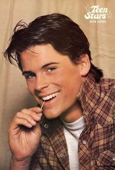celebrities Rob Lowe as Sodapop in The Outsiders The Outsiders Sodapop, Rob Lowe The Outsiders, Beautiful Boys, Pretty Boys, Die Outsider, Cute Actors, Handsome Actors, Young Actors, Fine Men