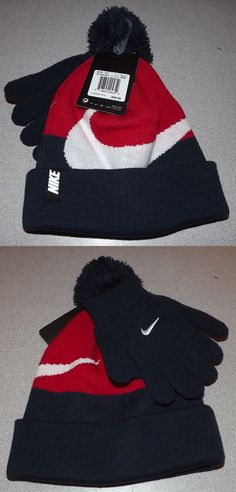 9f560ddffb2 Hats 57884  Nwt Boys Size 8-20 Nike Swoosh Hat And Gloves Set Navy