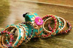 gota jewelry, gota bangles, turquoise bangles