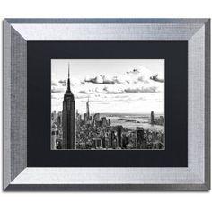 Trademark Fine Art NY Cityscape Canvas Art by Philippe Hugonnard, Black Matte, Silver Frame, Size: 16 x 20, White