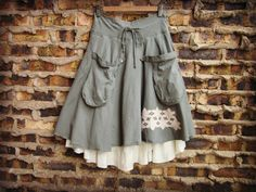 Upcycled Boho Jersey Skirt// Small// Eco Urban Chic by emmevielle, $63.00