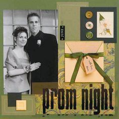 Use an Elegant Color Scheme for a Prom Scrapbook Page