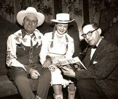 Gene Autry photos | Gene Autry, Gail Davis during Gene's '56 Canadian tour. We figure ...