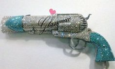 swarovski crystal bling pistol hair dryer.