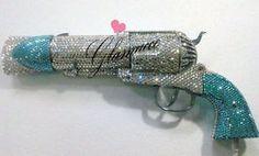 swarovski crystal bling pistol hair dryer.