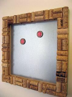 Magnetic Wine Cork Board by LizzieJoeDesigns on Etsy, $40.00