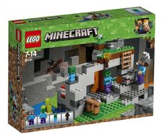 Combine this set with other LEGO Minecraft models to create your own unique LEGO Minecraft universe. LEGO Minecraft The Zombie Cave Building Set. LEGO Minecraft building sets are compatible with all LEGO construction sets for creative building. Lego Ninjago, Minifigura Lego, Van Lego, Lego Batman, Lego Minecraft, Minecraft Video Games, Lego Friends, Legos, Zombies