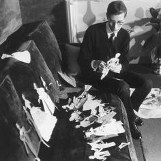 Yves Saint Laurent, le nouveau directeur de Dior depuis le 15 Novembre 1957, François Pages.  loeil en seyne.fr