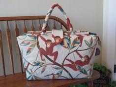 Monkey See Monkey Do Weekender Bag 204  My BIG by SignsofWelcome