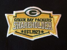 GREAT LOOKING SHAREHOLDERS  PATCH,JERSEY READY, OWNERS,A BEAUTY,,,EASY IRON ON,, #GreenBayPackers