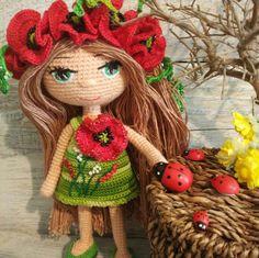 Flower fairy doll Princess doll Eco friendly doll Plush fairy doll Goddaughter gifts Crochet dolls A Crochet Gifts, Crochet Dolls, Crochet Flower, Goddaughter Gifts, Enchanted Doll, Realistic Baby Dolls, Thinking Day, Daughter Of God, Flower Fairies