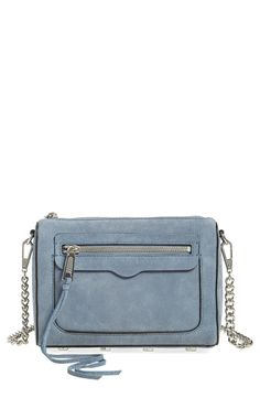This chic suede Rebecca Minkoff crossbody bag is perfect for weekend adventures. The denim color will pair well with a casual white tee and a comfortable pair of dark skinny jeans.