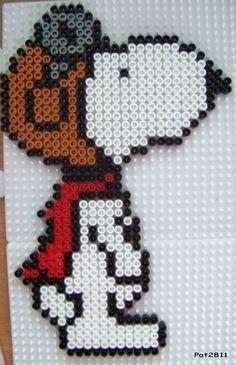 bead pattern, perler idea, perler beads, bead sprite, cross stitch patterns, snoopi perler, hama perler bead, cross stitches, perler snoopy