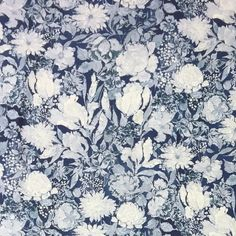 i-Flower - Blue, , Ian Sanderson Upholstery and Curtain Fabrics