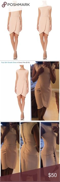 "✅ Sale! The Limited ""Scandal Collection"" Sheath Unique peplum tulip dress sheath dress from the scandal collection by the limited. Love olivia pope? Dress like her! Size 0. Can fit up to a size 4. Stretches. The belt is not included but it has belt loops and can be worn with any other belt. Creamy beige color. Knee length. The Limited Dresses Midi"