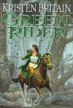 Kristen Britain:Green rider (Green Rider series, 1). After an unexpected confrontation with a dying knight, Karigan G'ladheon becomes the unlikely bearer of a vital message to the king, on a mission during which she faces assassins and other deadly dangers in a world of complex magic.