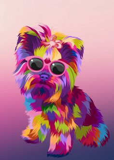 dogs pop art detailed, premium quality, magnet mounted prints on metal designed by talented artists. Dog Pop Art, Dog Art, Frida Art, Pop Art Posters, Colorful Animals, Arte Pop, Watercolor Animals, Print Artist, Animal Paintings