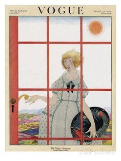 harriet messerole artist   Vogue Cover - March 1920 Regular Giclee Print