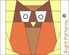 Free Owl PDF quilt paper pieced Sewing Pattern