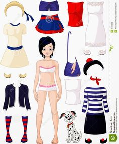 Kids Under 7: Funny Paper Dolls with Clothes