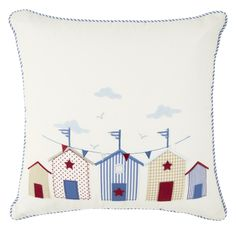 Seaside Applique Cushion, Laura Ashley