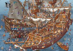 Pirates! by Carsten Mell, via Behance