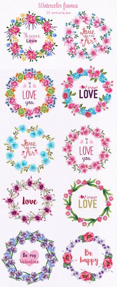 130 Spring and love elements by Elena Neculae on @creativemarket