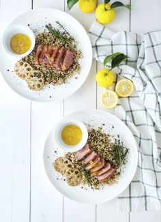 Quick and easy!   Pan-Roasted Duck Breasts with Yuzu Sauce