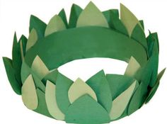 Laurel or Olive Leaf Crown - fun for the kids to make for the winter Olympics in Feb, 2014
