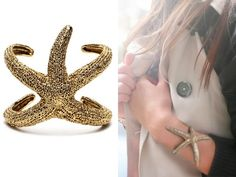 Make this is silver and I won't take off, even after summer is over! #Umbaloves #Handmade  DIY Polymer Clay Bimba and Lola Starfish Cuff. Photo Left: Bimba and Lola Starfish Cuff. DIY by Dream, Create using silicone molding putty and polymer clay. She used a starfish from a crafts' store and the closeup results are amazing.