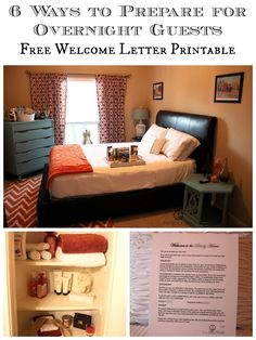6 Ways to Prepare for Overnight Guests - Check out some great tips on welcoming your guests and get your Free Welcome Letter Printable!