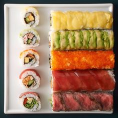 It's avaliable in every High Street food store and is a lunchtime favourite, but sushi is more than just a tasty lunch Sushi Recipes, Asian Recipes, Cooking Recipes, Healthy Recipes, Ethnic Recipes, Japanese Dishes, Japanese Food, Japanese Desserts, Sushi Co