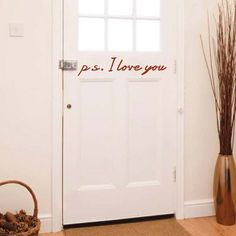 p.s. I Love You Wall Design, Vinyl Wall Stickers, Trendy Wall Designs
