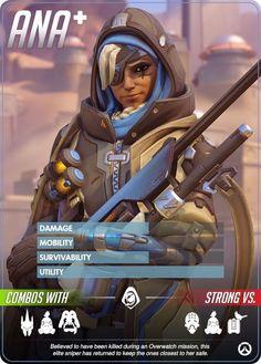 Overwatch Hero Cards: Ana