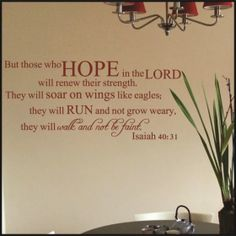 Isaiah 40:31 Scripture Wall Decal version 3